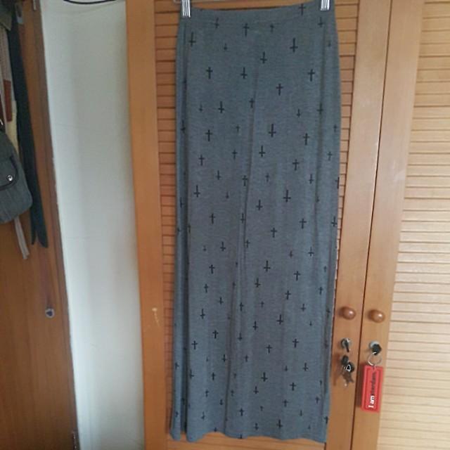 Cotton rok panjang
