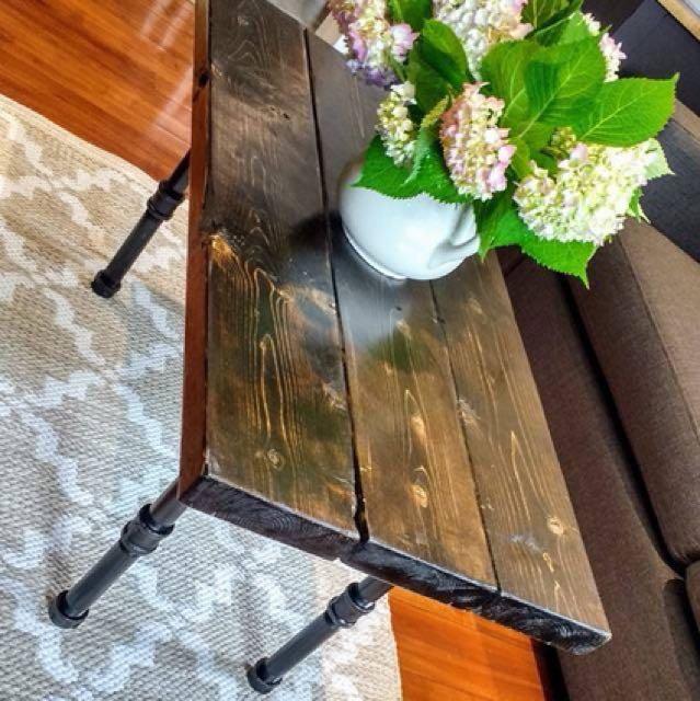 Custom built industrial coffee table