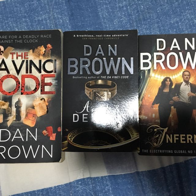 Dan Brown The DaVinci Code Angels Demons Inferno Books