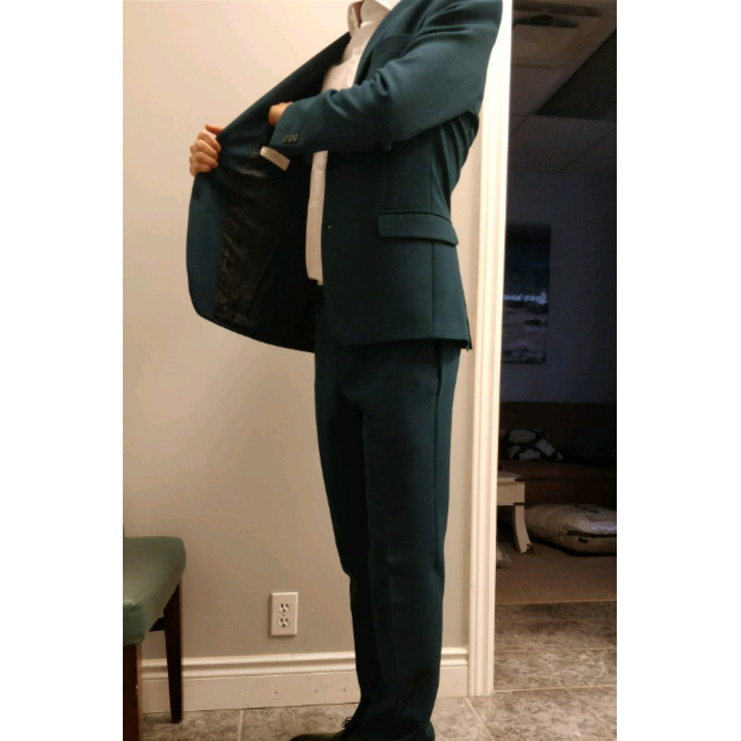 Dark Teal Gianni Versace Suit - Size 38