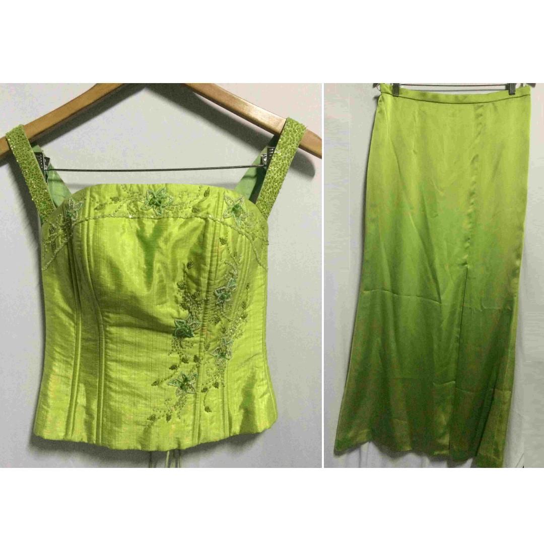 Designer Formal / Evening Wear Corset- style (Top / Gown Set)