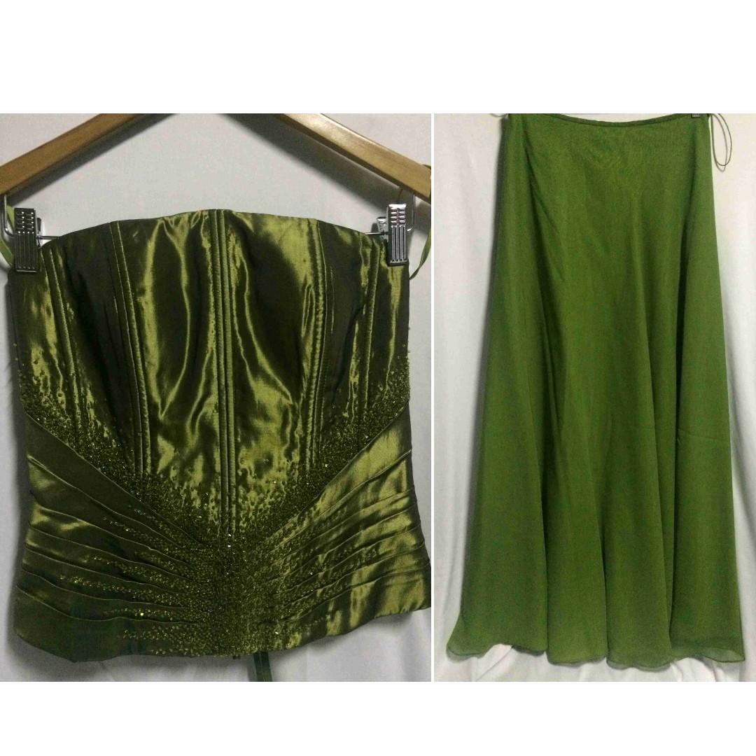 Designer Formal / Evening Wear Corset Tube (Top / Gown Set)