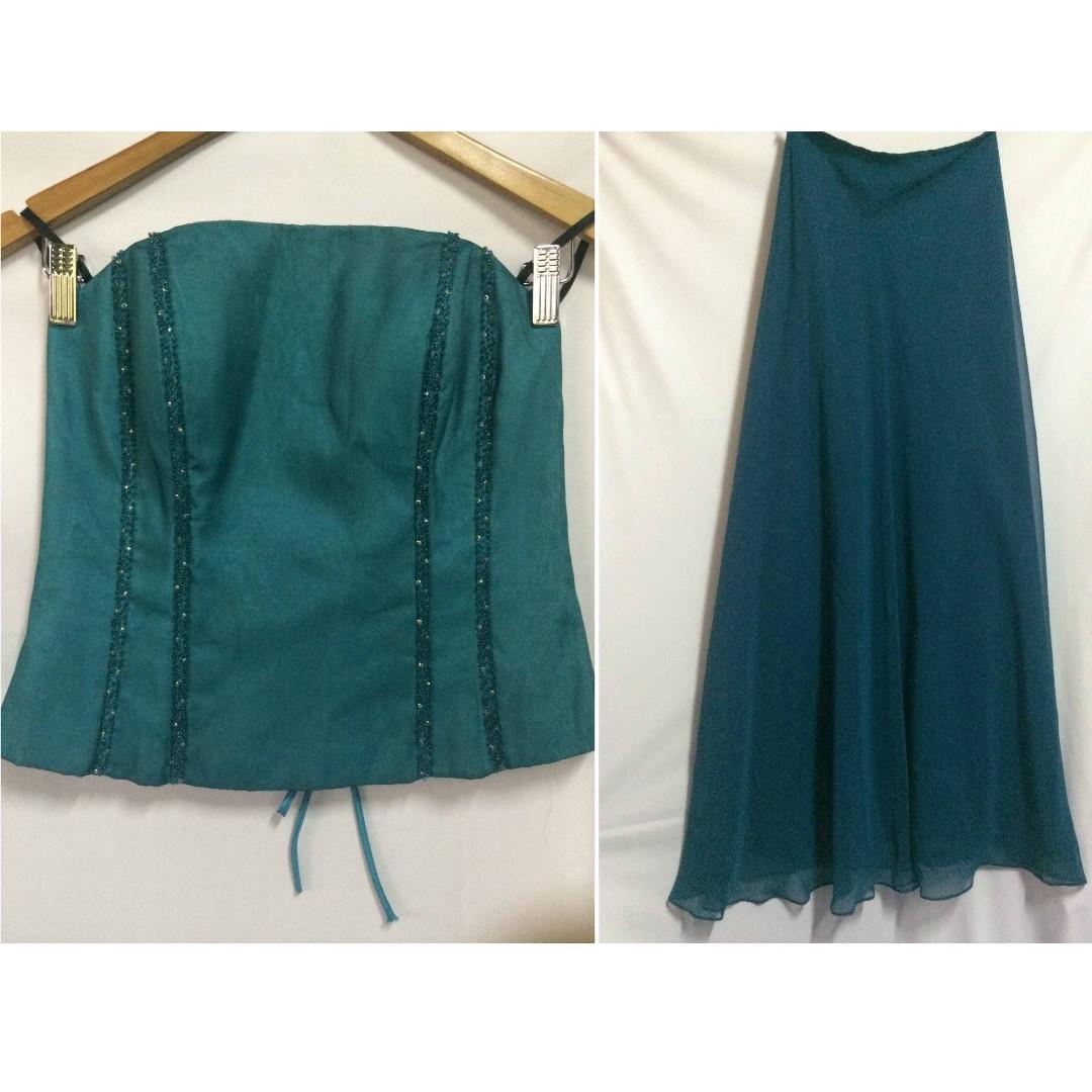 Designer Formal / Evening Wear Corset Tube (Top / Gown Set) on SALE