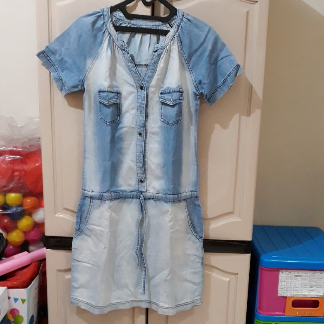 Dress denim dewasa