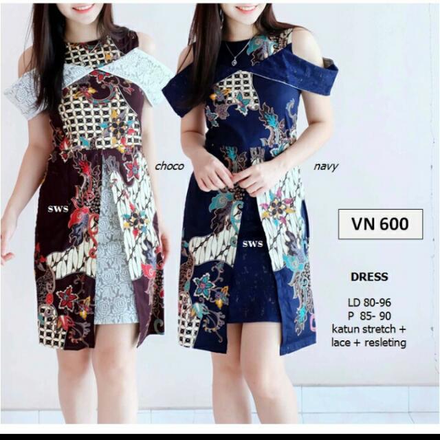 Dress Gaun Pesta Batik