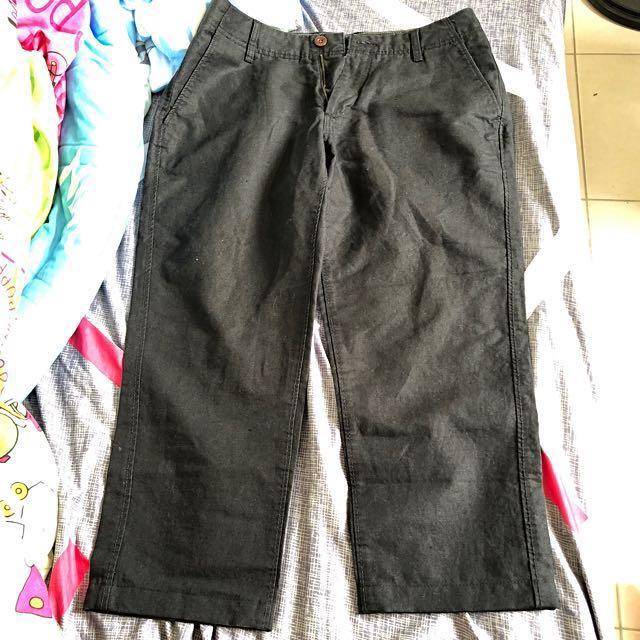 Esprit 黑色長褲 8-9分