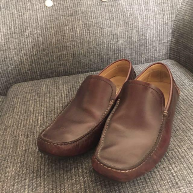 男版FERRAGAMO咖啡色皮鞋