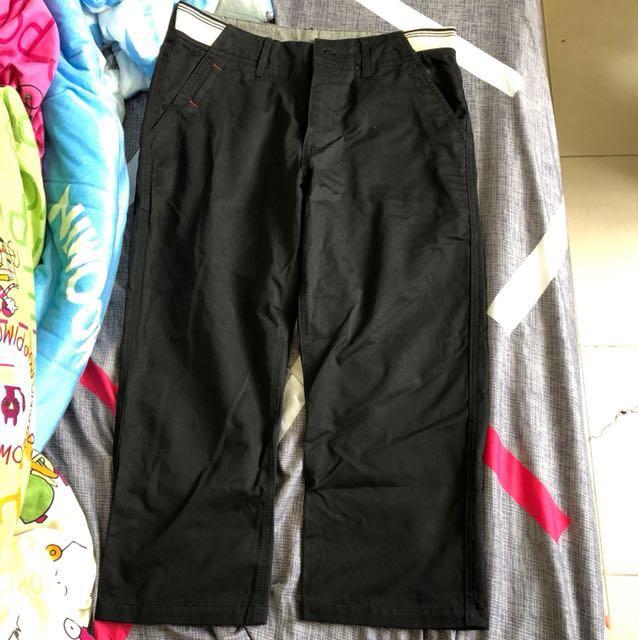 fifty percent黑色長褲 8-9分