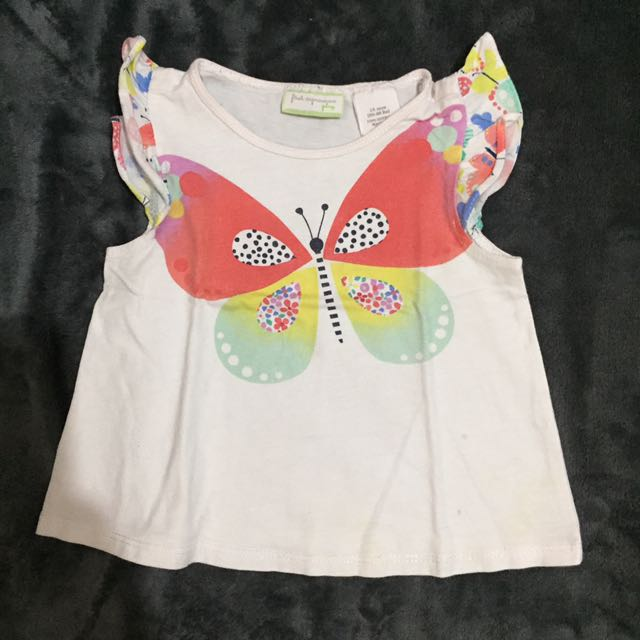 First Impressions Butterfly Top 12mos