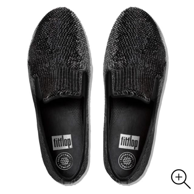 4f9bfdb24dc16 FitFlop Superskate Sequin Loafers