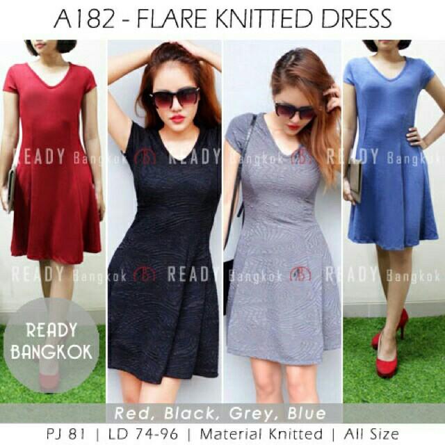 flare dress import bangkok