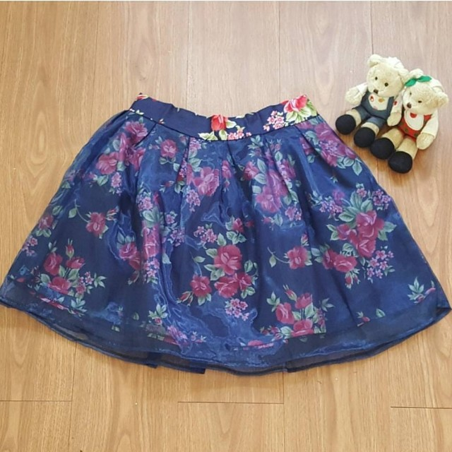 Floral Tufle Skirt