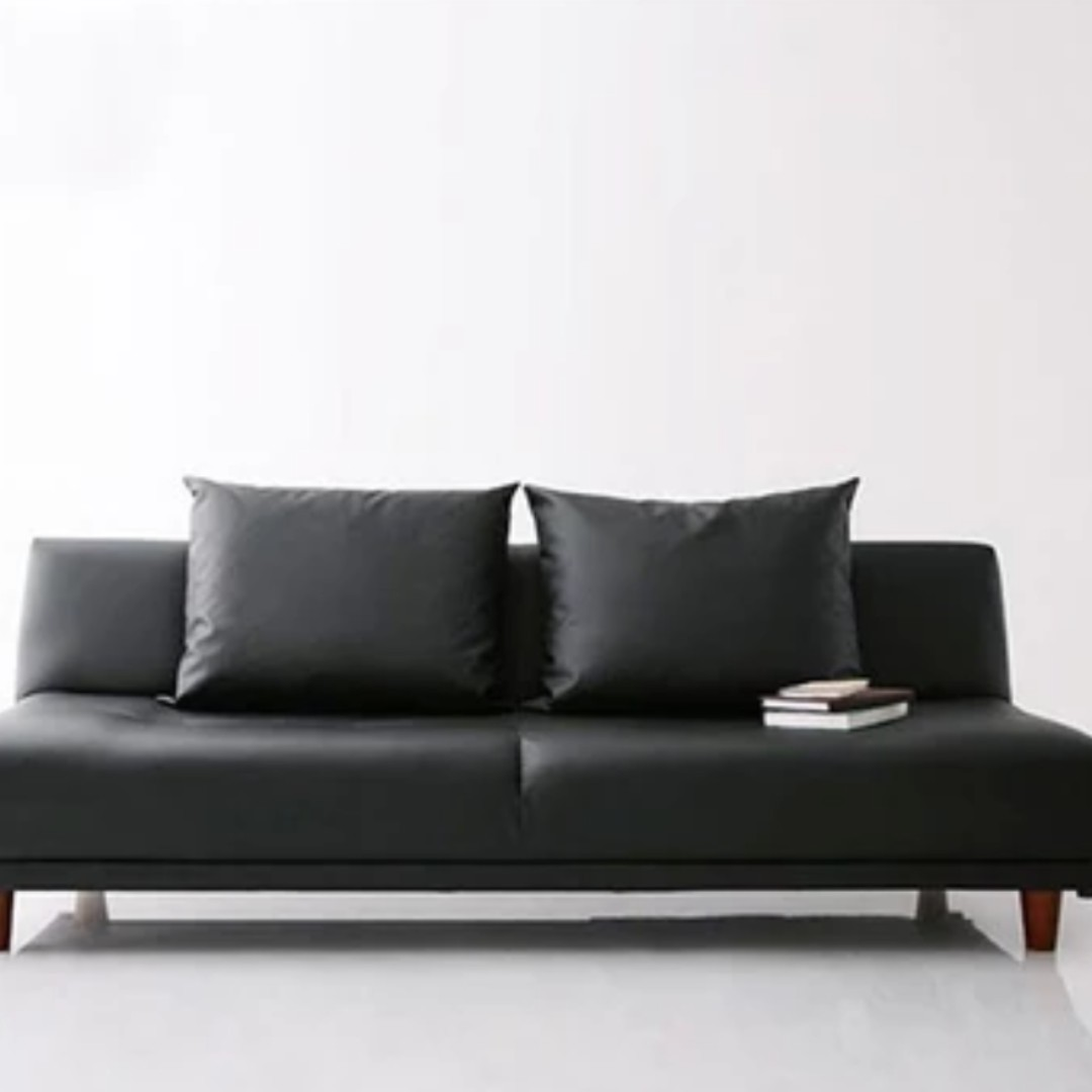 foldable japanese minimalist leather sofa new furniture sofas on rh sg carousell com sofa minimalist modern minimalist sofa