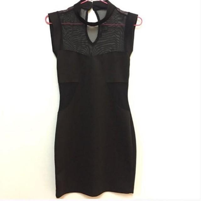 Forever 21 mesh bodycon dress