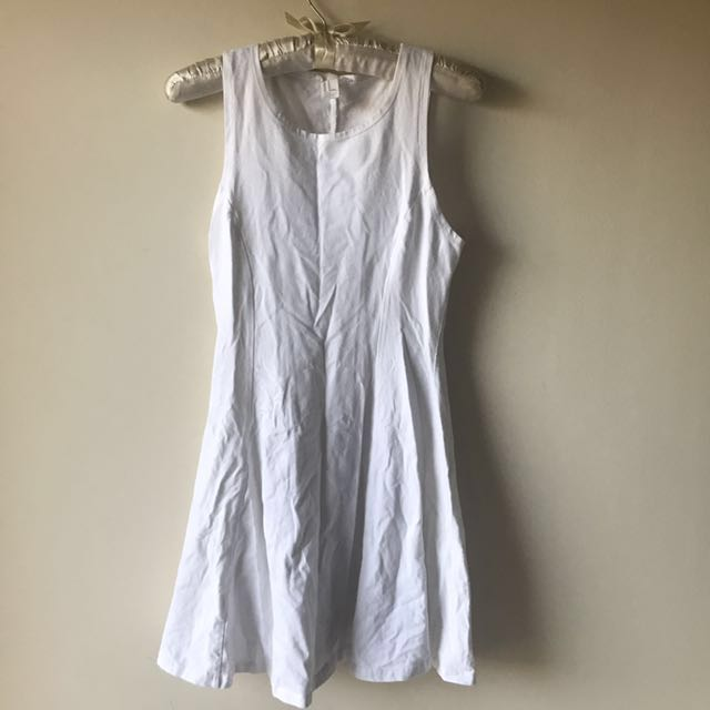 Forever 21 White Skater Jersey Dress Size M F21