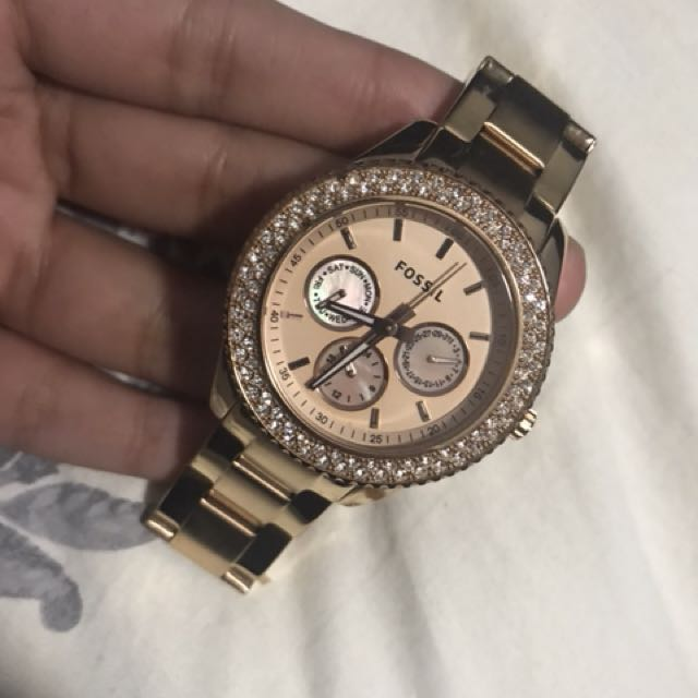 FOSSIL rose gold woman's watch
