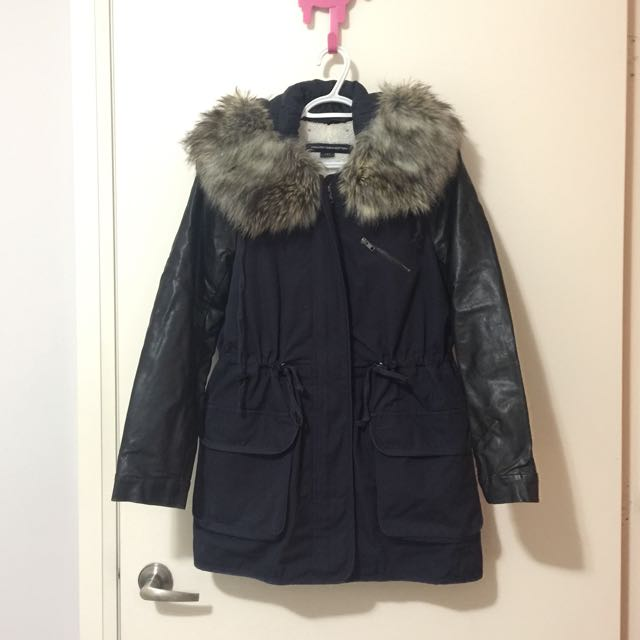 French Connection Blue Parka size 4