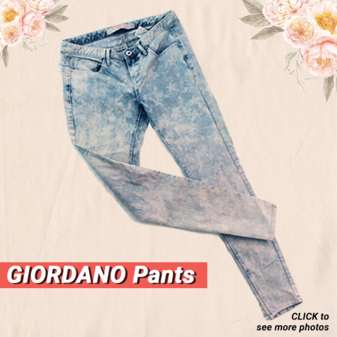 GIORDANO Low Rise Skinny Pants