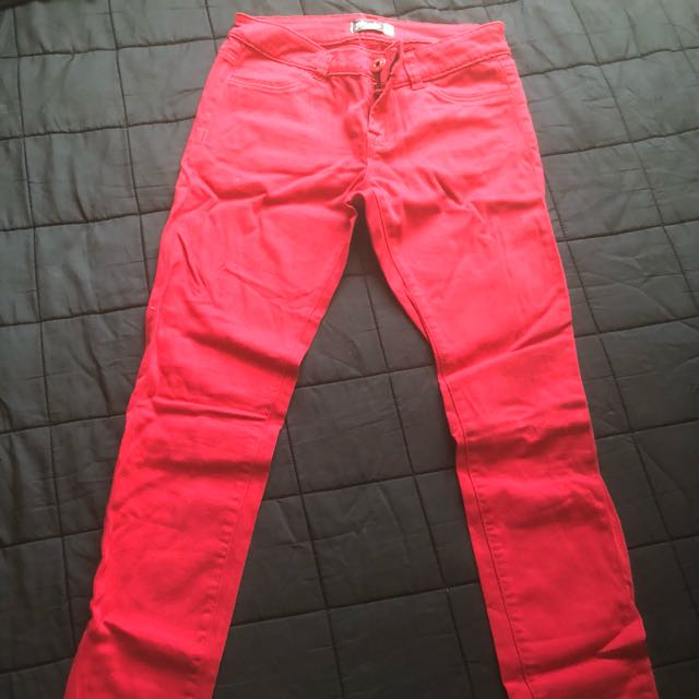 Glassons Red denim jeans sz9
