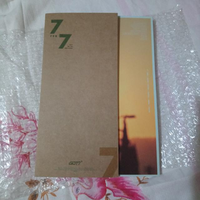 Got7 7for7 with Mark Lyric Card