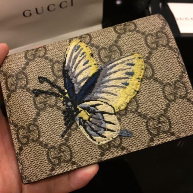 Gucci 精緻刺繡皮夾⚜️台灣限定版-全新