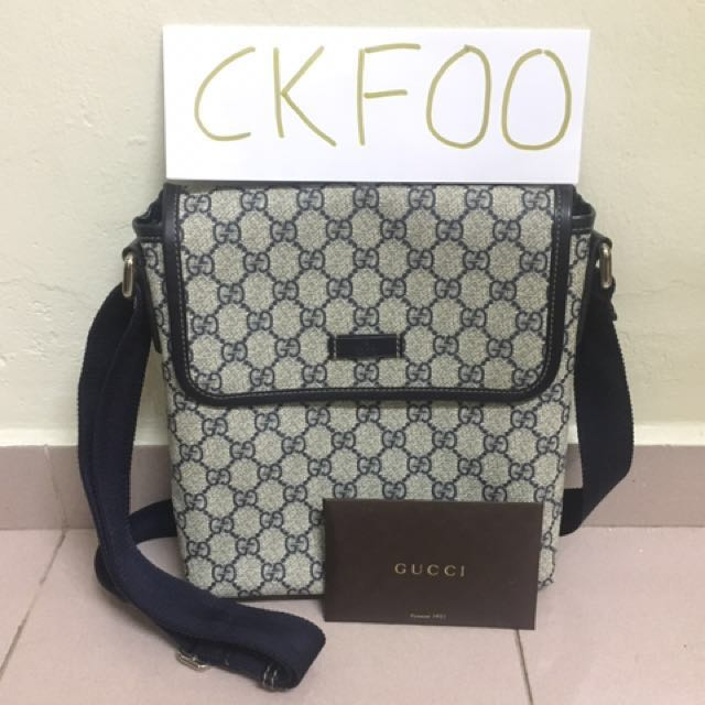 4722c345a575 Gucci Sling Bag Man, Men's Fashion, Bags & Wallets on Carousell
