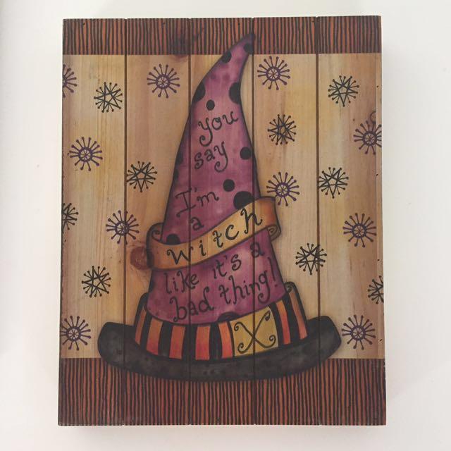 Halloween witch hat box