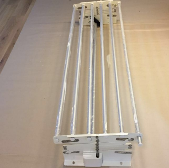 Hdb Bto Ceiling Laundry Rack Manual Pulley System On