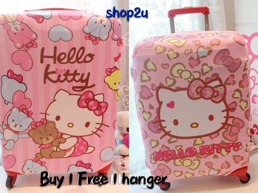 Ready stock👍 Hello Kitty Elastic Luggage Cover suitcase Protector