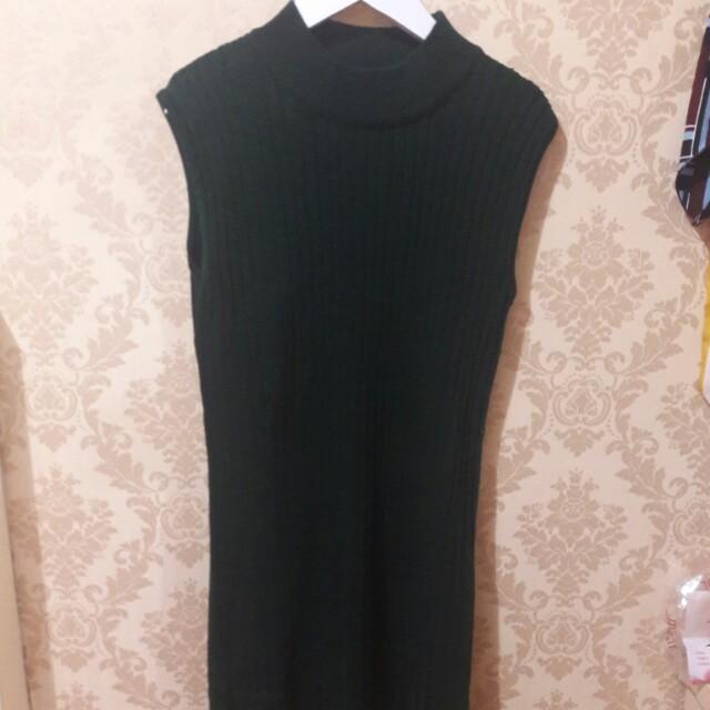 Helter neck dress (army)