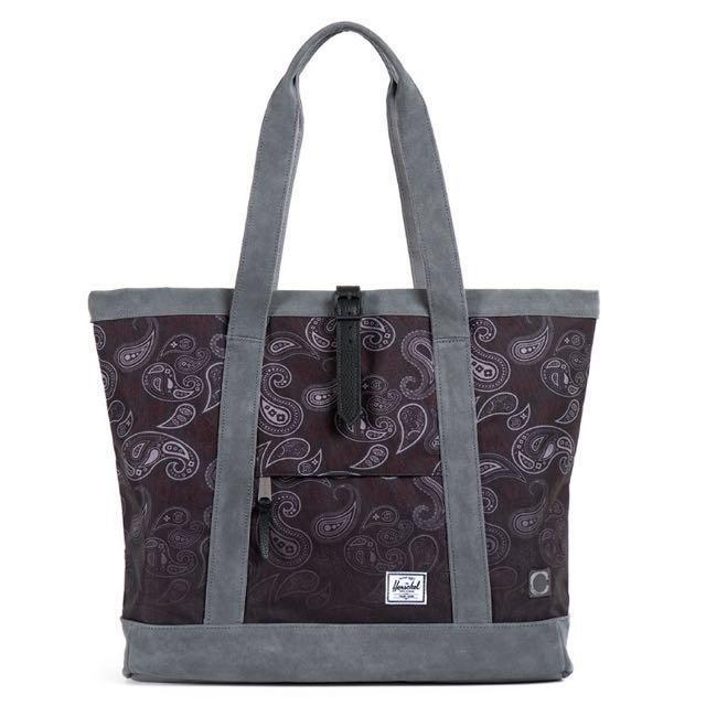 HERSCHEL X CLOT TOTE BAG 聯名 MARKET XL 變形蟲 托特包 肩背包 手提包 黑灰