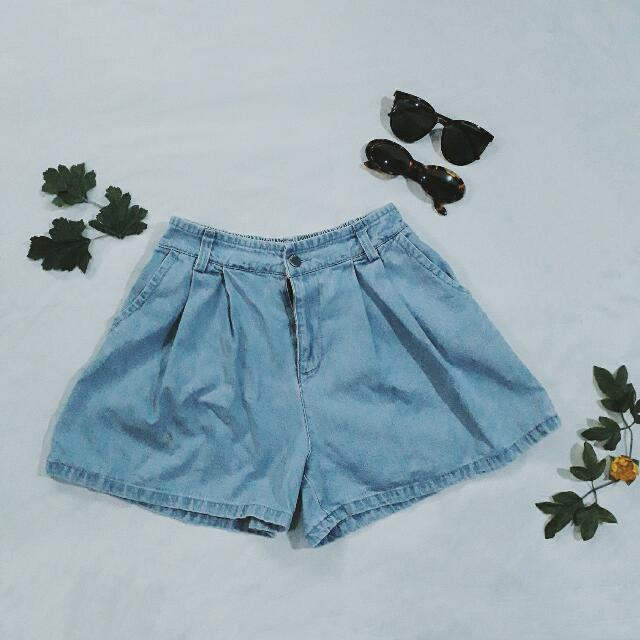 Highwaist Denim Skirtshorts (Unbranded)