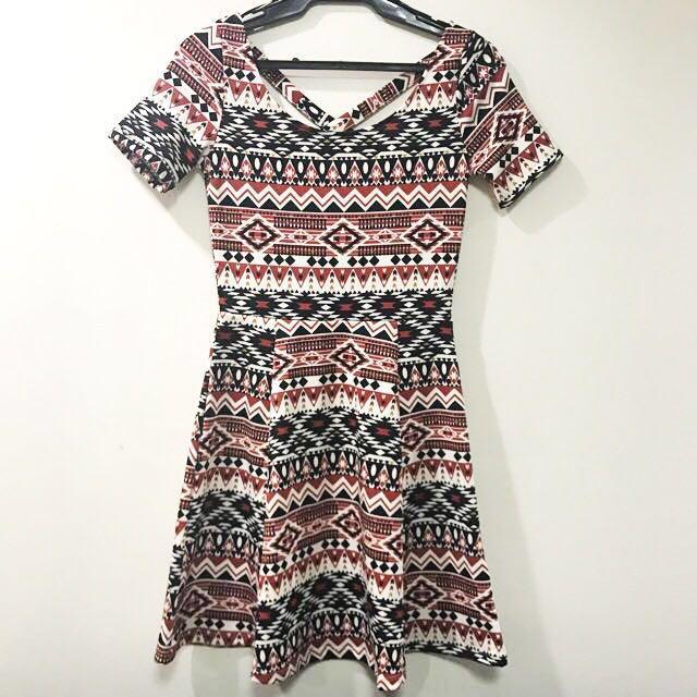 H&M Divided Aztec Print Dress