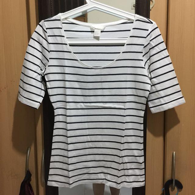 H&M strip shirt