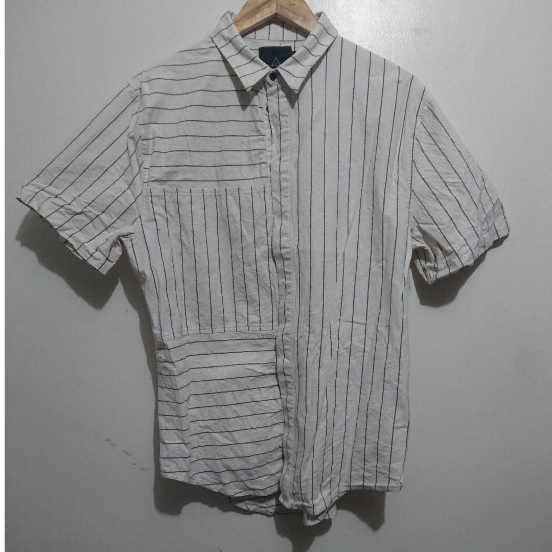 i love ugly Panel Stripe S/S Shirt
