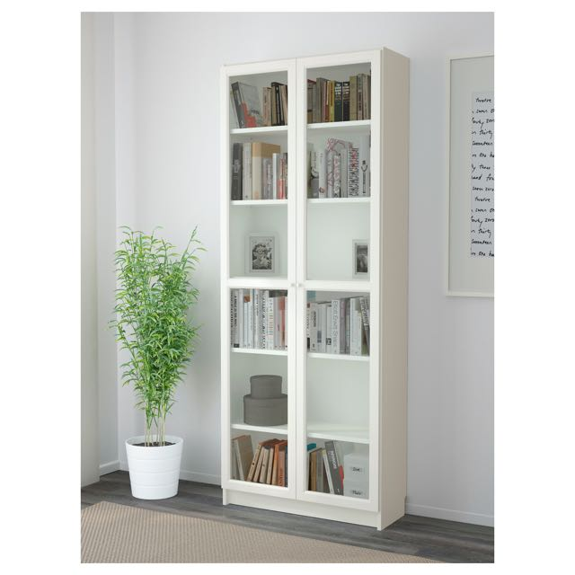 new product 08bce 66c77 IKEA Bookcase / Cabinet with glass door