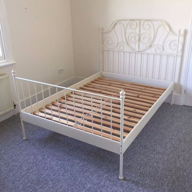 IKEA LEIRVIK BED (princess bed) QUEEN SIZE FOR SALE ( FRAME + BASE