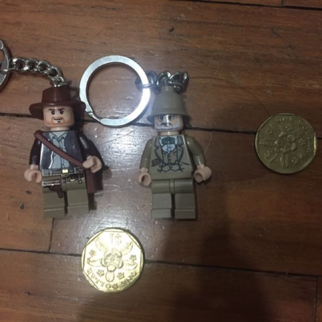 Indiana Jones And Father Lego Keychain Toys Games Bricks