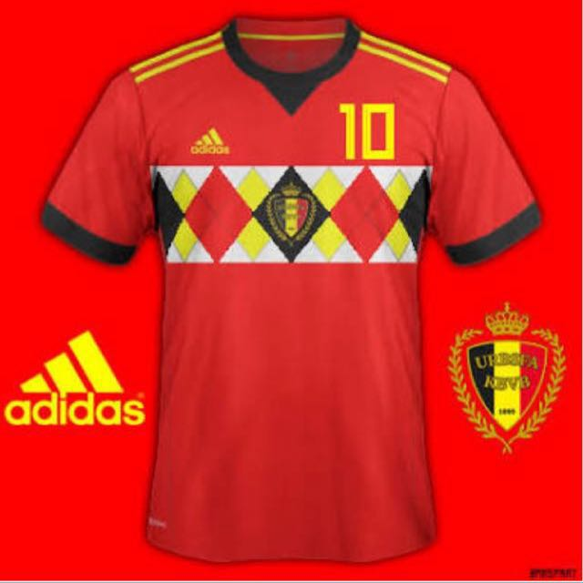 e5660dfe640 Instock] BELGIUM WORLD CUP JERSEY SIZE M L XL, Sports, Sports ...