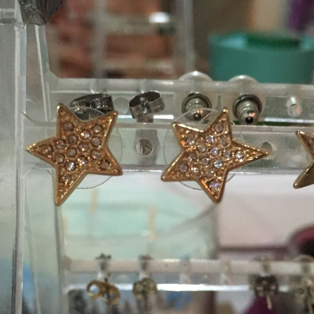 Kate spade gold plated star earrings