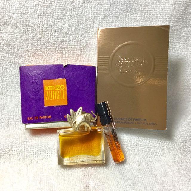~Kenzo  叢林大象小香水+ 高提耶 金鑽馬甲(淡香精)試管香水~