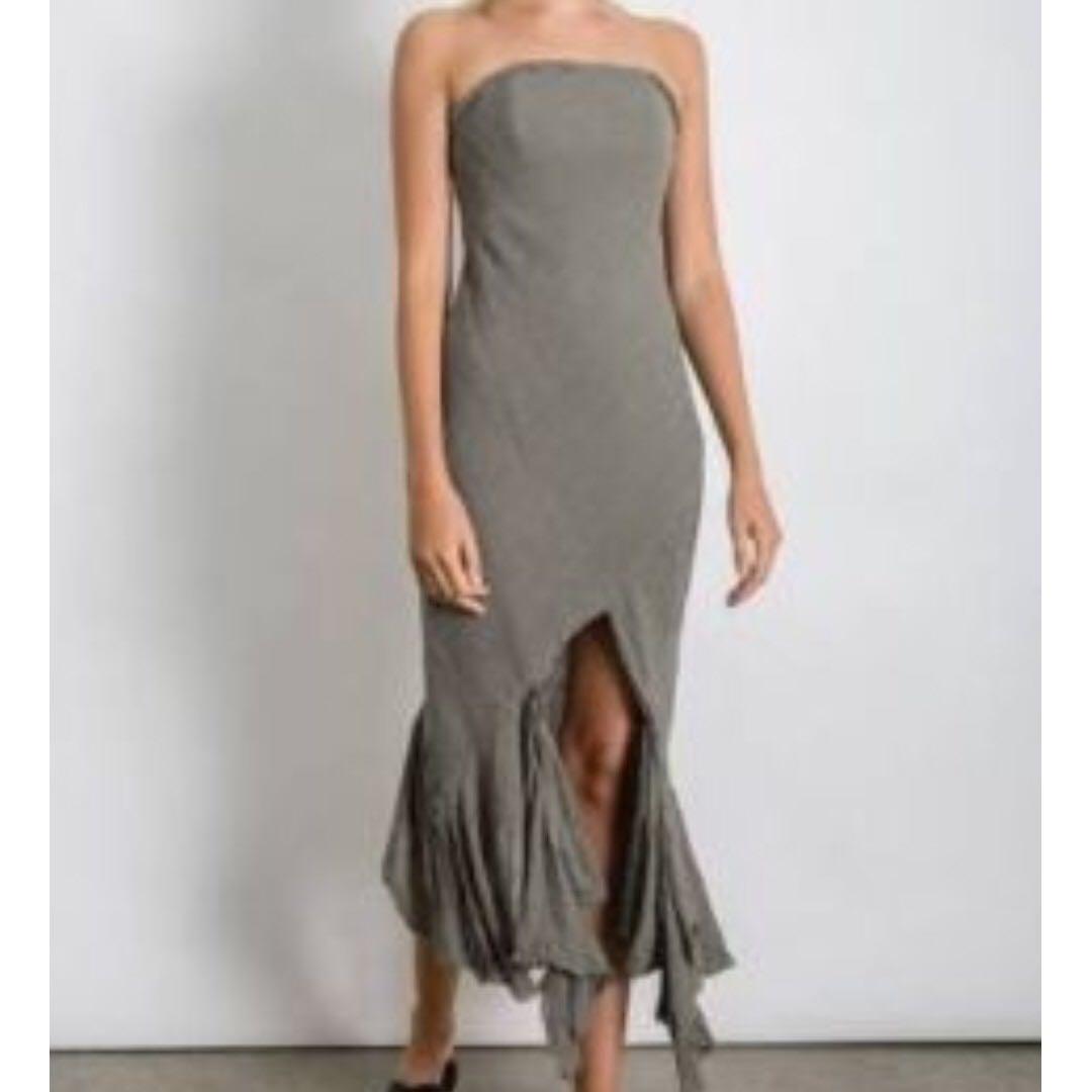 KITX kitx crushed linen strapless dress,