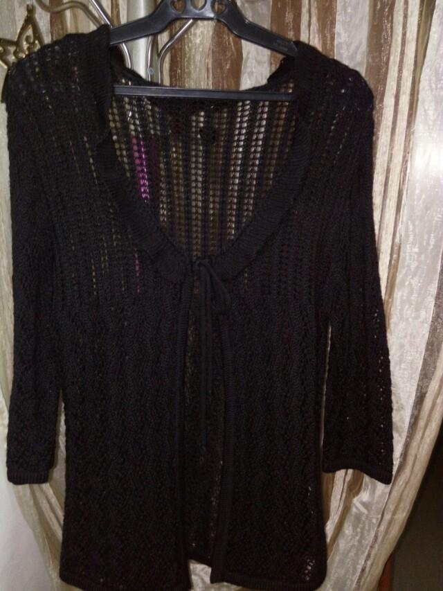 Knitted black blazer