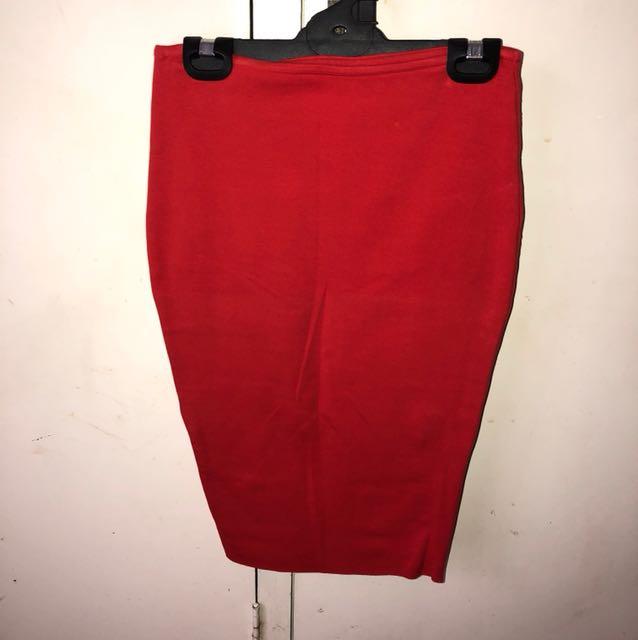 Kookai Red Pencil Skirt