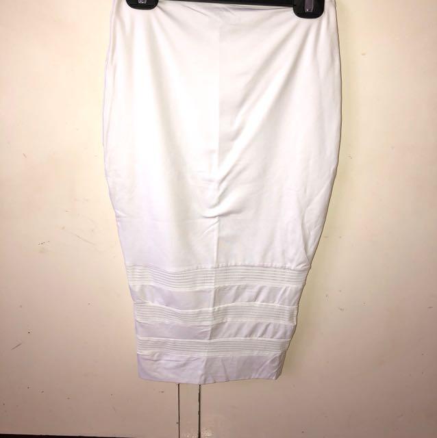 Kookai White Pencil Skirt