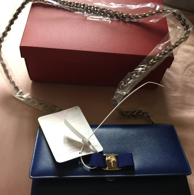 Large Ginny Saffiano Salvatore Ferragamo Bag