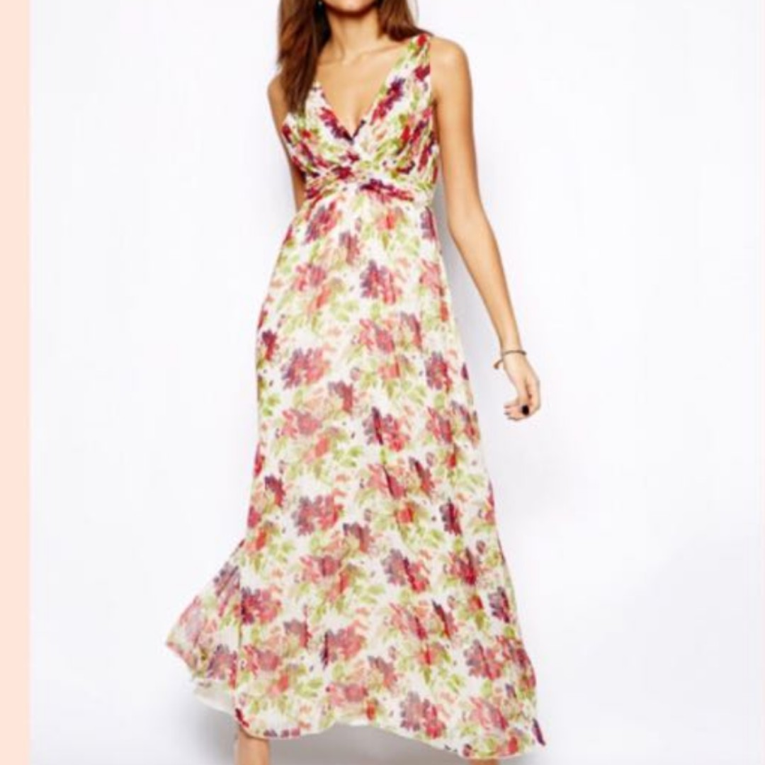 Little Mistress Garden Floral Maxi Dress