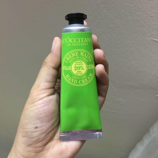 L'occitane Zesty Lime Hand Cream 30ml