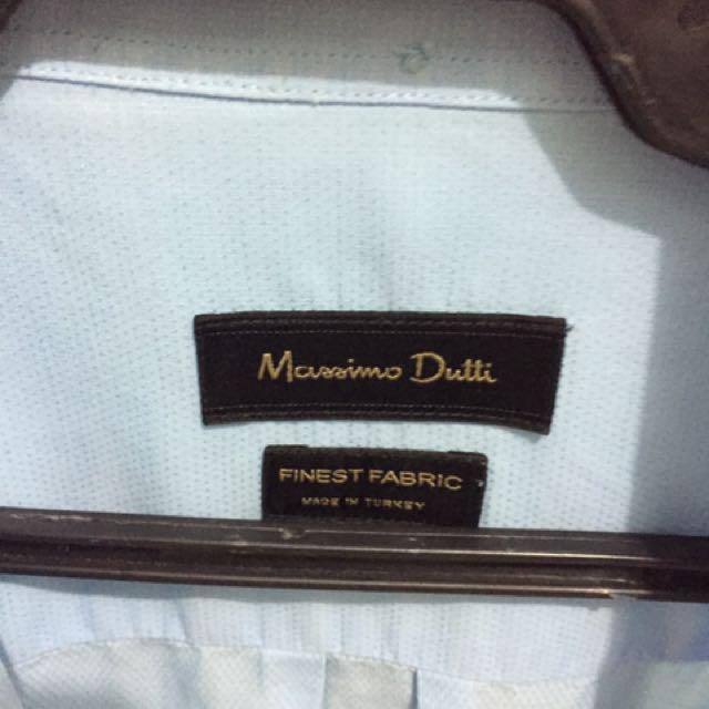 Massimo Dutti Polo Light Blue XL super sale