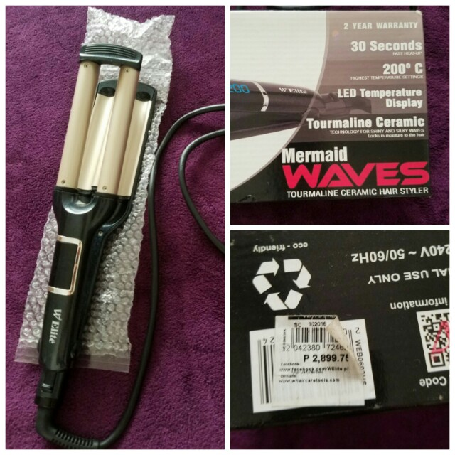 Mermaid Waves Tourmaline Ceramic Hair Waver
